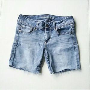 "American Eagle Cut Off Stretch Jean Shorts 30"""